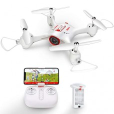 Drone with Camera Syma X23W Mini RC Quadcopter Live Stream APP Control Waypoint Control Gravity Control Headless Mode 360 Degree Flip and Hover Function Remote Control Aircraft White