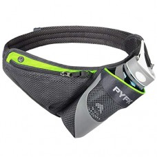 PYFK Running Belt Hydration Waist Pack with Water Bottle Holder for Men Women Waist Pouch Fanny Bag Reflective Fits iPhone 6/7 Plus