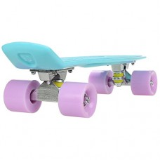 """ANCHEER Mini Cruiser Skateboard Complete - 22"""" Retro Plastic Skate Board, for Adult Youth Kids Boys Girls Age 4 Up"""