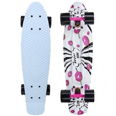 Cal 7 Complete Mini Cruiser   22 Inch Micro Board   Vintage Skateboard for School and Travel