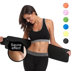 ABAHUB Waist Trimmer Belt for Women and Men Weight Loss, Stomach Wrap of Body Shaper, Fat Burner Trainer 2 Size Plus Fits up to 47""