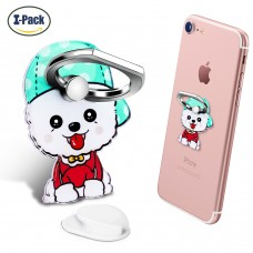 Cell Phone Ring Holder Stand, Phone Grip Car Mounts 360 Degree Rotation Finger Ring Stent Compatible iPhone X 8 7 6 Plus, Galaxy S6 S7, Note, Pixel (Dog)