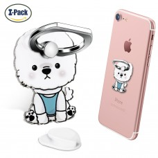 Cell Phone Ring Holder Stand, Phone Grip Car Mounts 360 Degree Rotation with Finger Ring Stent Compatible iPhone X 8 7 6 Plus, Galaxy S6 S7, Note, Pixel (Dog)