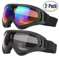 COOLOO Ski Goggles (2 Pack) Multicolor & Gray