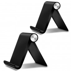 Cell Phone Stand,2 Pack Adjustable iPhone Stand Black